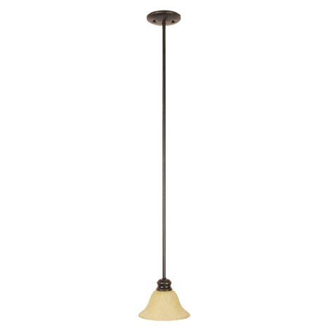Bronze Mini Pendant Lights Westinghouse 1 Light Rubbed Bronze Adjustable Mini Pendant With Blown Clear Seeded