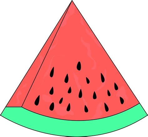 clipart slice watermelon sketch