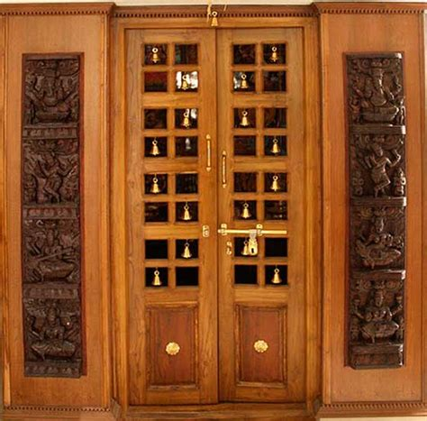 pooja room door frame and door design gallery