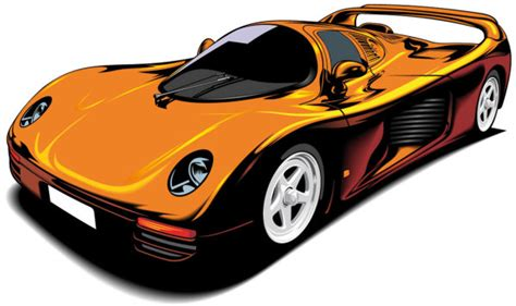 cartoon sports car beautiful sports car 02 vector download free vector psd