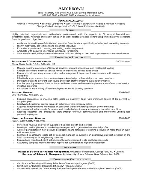 senior financial analyst resume exles senior financial analyst resume the best resume