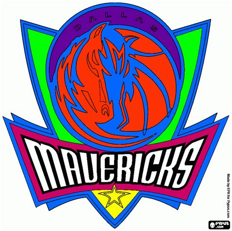dallas maverick coloring page printable dallas maverick