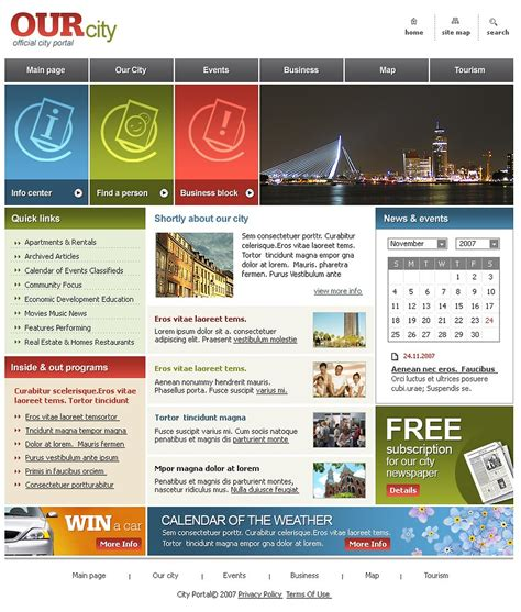 free templates for government website city portal website template web design templates