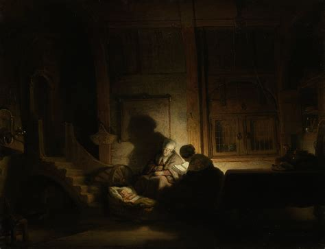 Home Interior Nativity The Holy Family By Night Rembrandt S Room