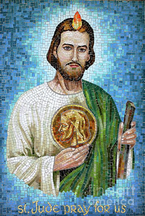 St Wiliam jude mosaic greeting card for sale by william kuta