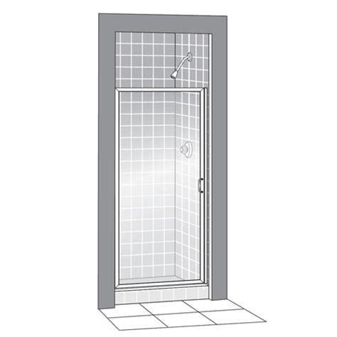 American Standard 833 213 Hammered Glass Showerite Hinged Showerite Shower Doors