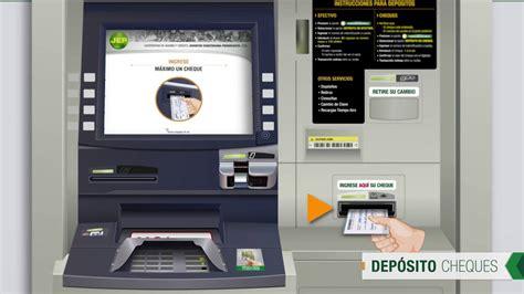 deposito de cheque cajero dep 243 sito cheques youtube