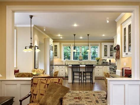 open plan kitchen living room warm paint colors for open floor plan