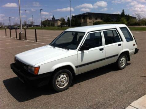 1986 Toyota Wagon Purchase Used 1986 Toyota Tercel Dlx 4wd Wagon Auto In