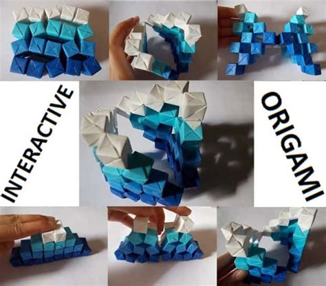 interactive origami amazing kinetic origami sculpture well done stuff