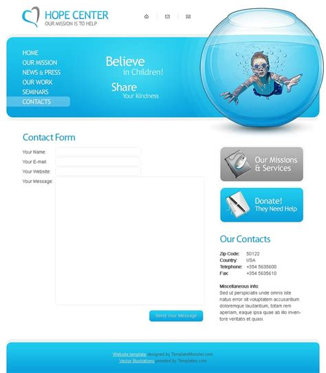 Free Charity Website Template Free Charity Website Templates