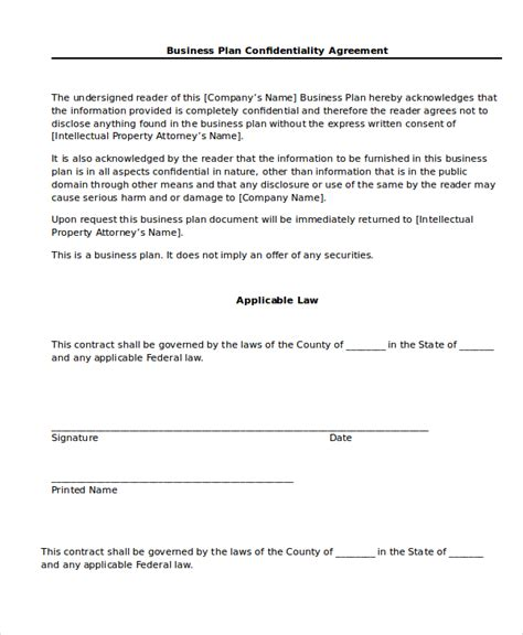 business confidentiality agreement template confidentiality agreement 13 free word pdf documents
