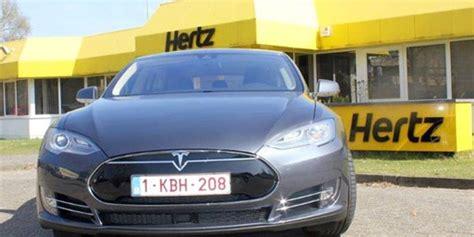 Tesla Hertz Hertz A 241 Ade El Tesla Model S A Su Flota De Alquiler