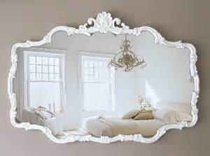 h u g e vintage cottage chic mirror shabby chic french