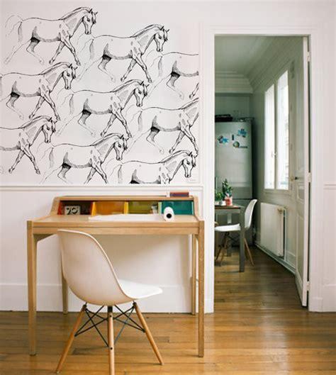 horse wallpaper for bedrooms girl horse wallpaper by eszkimok eclectic wallpaper