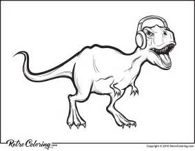 coloring page t rex t rex dinosaur coloring page retrocoloring
