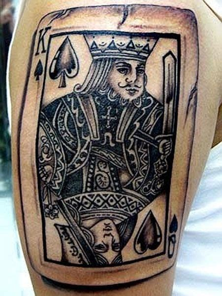 king card tattoo king and of hearts to commemorate our vegas wedding