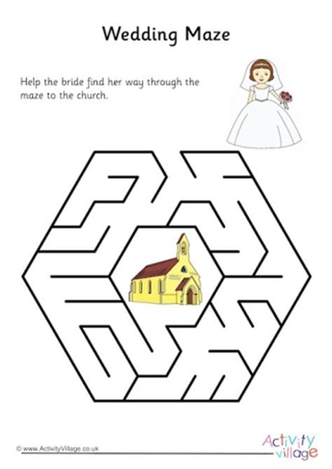 printable wedding maze wedding maze 2