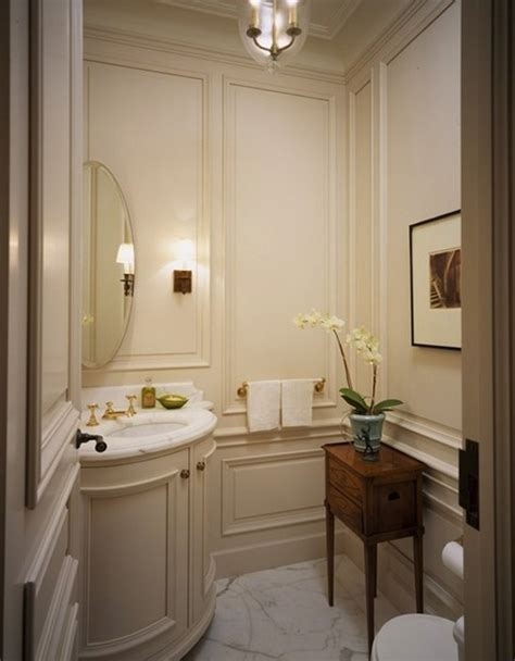 powder rooms with wainscoting small powder room design studio design gallery