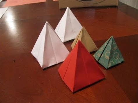 Origami Pyramid - fold a 1 dollar pyramid by shafer funnycat tv