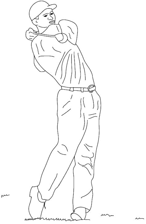 tiger woods coloring page coloring tiger woods picture picture