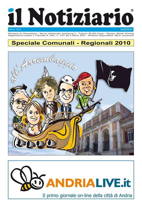 ufficio anagrafe trieste calam 233 o elezioni comunali e regionali andria 2010