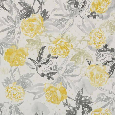 yellow and grey wallpaper next roses watercolour golden yellow and grey 3900020