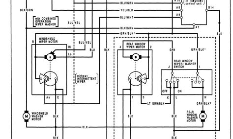95 honda wiper switch electrical diagram wiring diagram