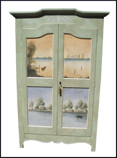armadi dipinti a mano armadio dipinto e decorato a mano con paesaggi la