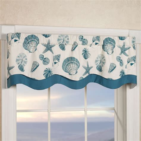 Coastal Valance shells coastal layered window valance