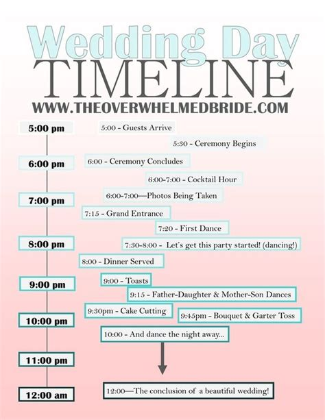 Wedding Planner California by Your Wedding Day Timeline Timeline California Wedding