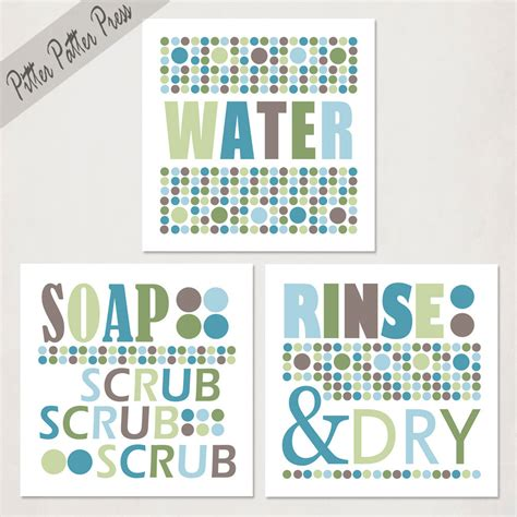 bathroom prints etsy bathroom art prints kids set of three by