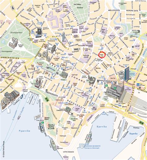 tourist map of central oslo attractions oslo tourist map see map details