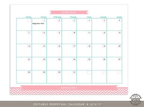 monthly calendar template pdf printable and editable monthly calendar calendar