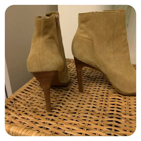 camel colored boots 78 shoes camel colored suede high heel ankle boots
