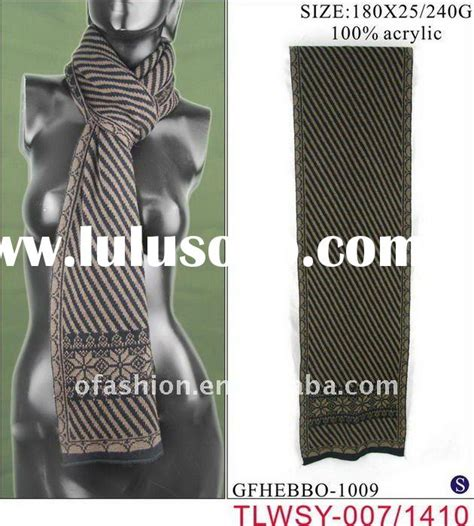 Scarf H19 stripe knitted scarf stripe knitted scarf manufacturers