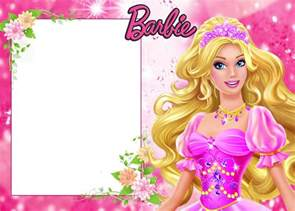 barbie free printable frames or invitations is it for