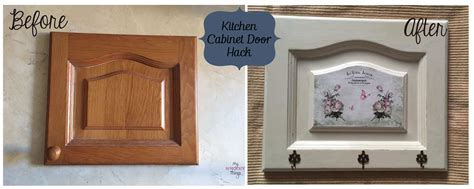 Decoupage Kitchen Cabinet Doors - kitchen cabinet door hack my sweet things