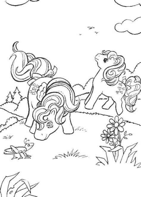 hello pony coloring pages pony playing with cricket coloring pages hellokids com
