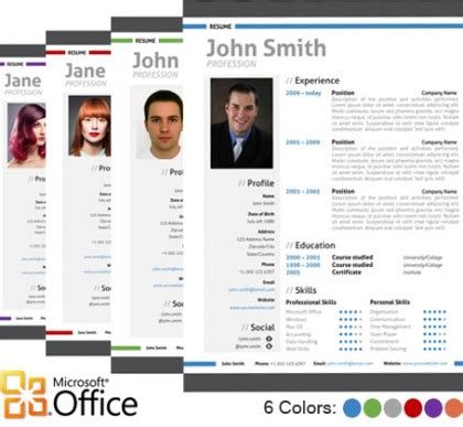 modern cv format in word trendy top 10 creative resume templates for word office