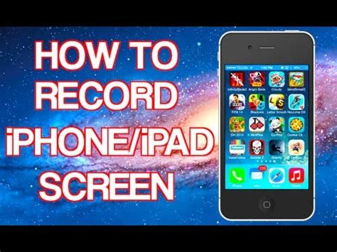 how to record your iphone ipad screen without jailbreak
