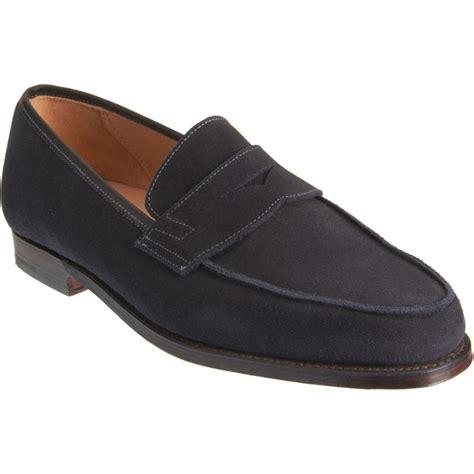 crockett jones loafers crockett jones apron toe loafer in blue for