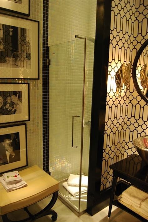 black and white bathroom art art deco bathroom hollywood regency bathroom