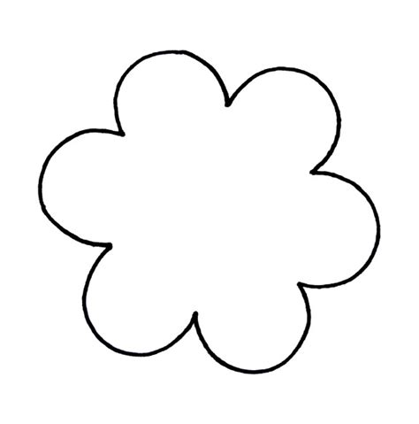 flower template with 6 petals petal clipart flower pattern pencil and in color petal