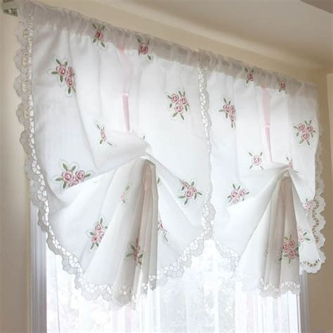 pull up drapes victorian rose lace pull up curtain