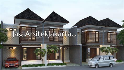 desain rumah homestay desain perumahan 2 lantai luas bangunan 100 m2 bu sally