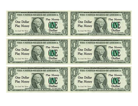 printable mini fake money printable play money for kids activity shelter
