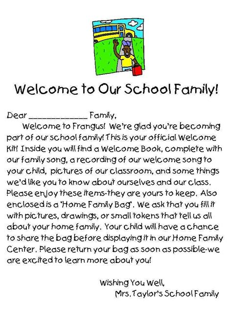 Parent Letter Generator Best 25 Welcome Letter School Ideas On