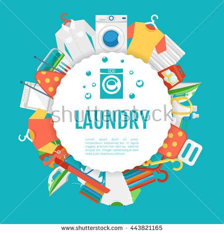 website templates for laundry laundry service poster design laundry icons stock vector