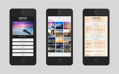 templates for mobile website universal mobile serif webplus templates